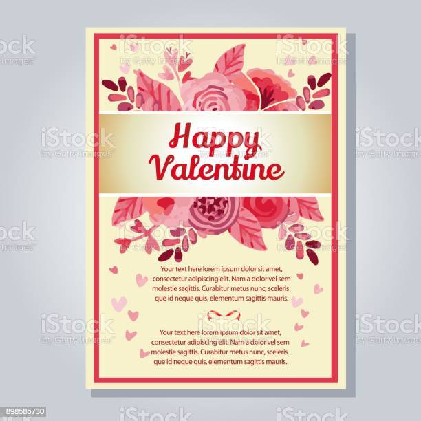 Valentine letter with watercolor flower vector id898585730?b=1&k=6&m=898585730&s=612x612&h=bc5laxqwwzntxsebb78wcilr lpomebejkhf2byc9ta=