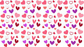 Valentine love Abstract seamless background pattern