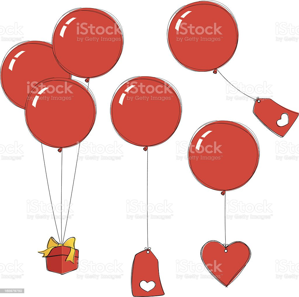 Valentine Love Balloons royalty-free valentine love balloons stock vector art & more images of balloon