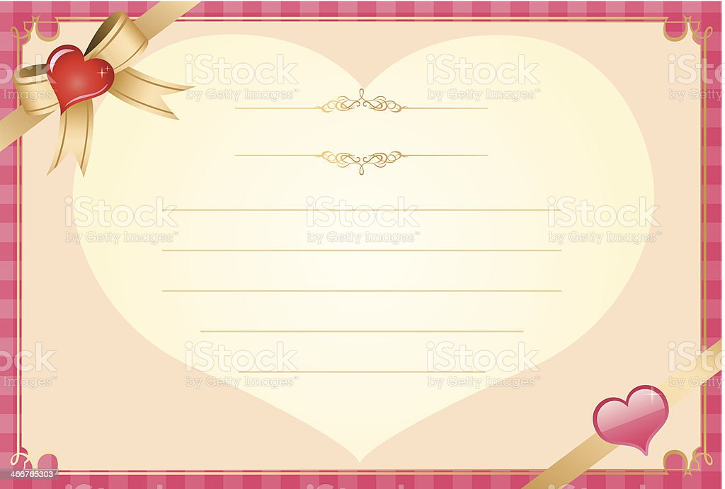 Valentine Message Card Template Stock Vector Art & More Images of ...