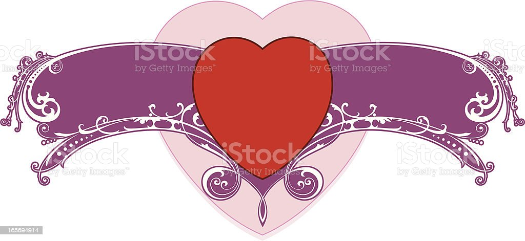Valentine Message vector art illustration