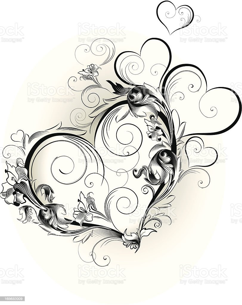 Valentine ornament royalty-free stock vector art