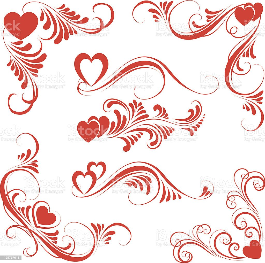 Valentine ornament royalty-free stock vector art