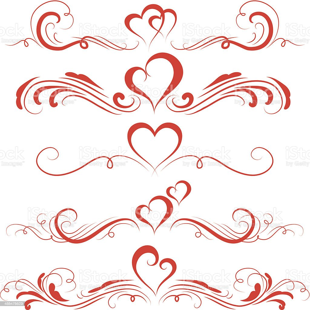 Valentine Ornaments Royalty Free Stock Vector Art