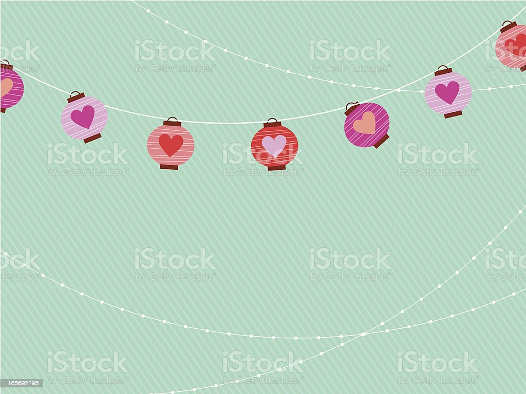Valentine Paper Lantern royalty-free stock vector art