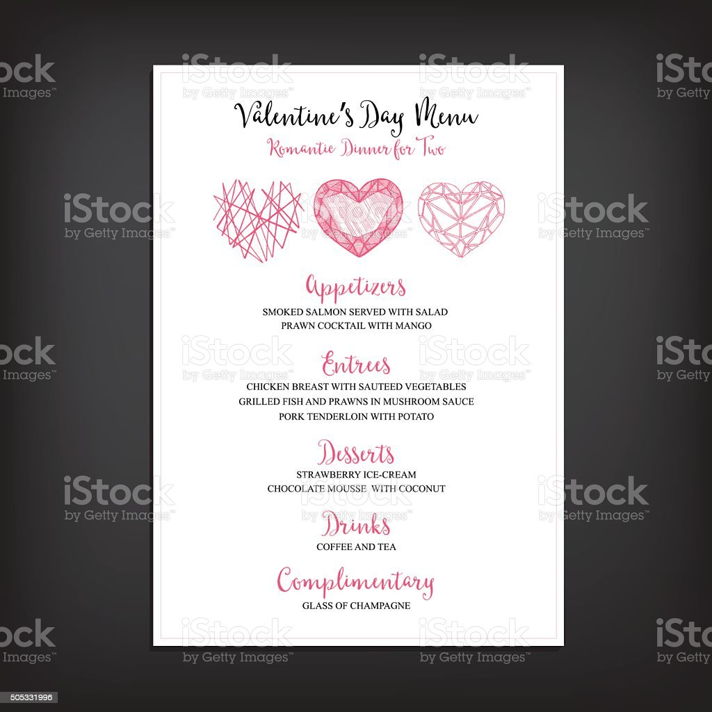Valentine Party Invitation Restaurant Stock Vector Art & More Images ...