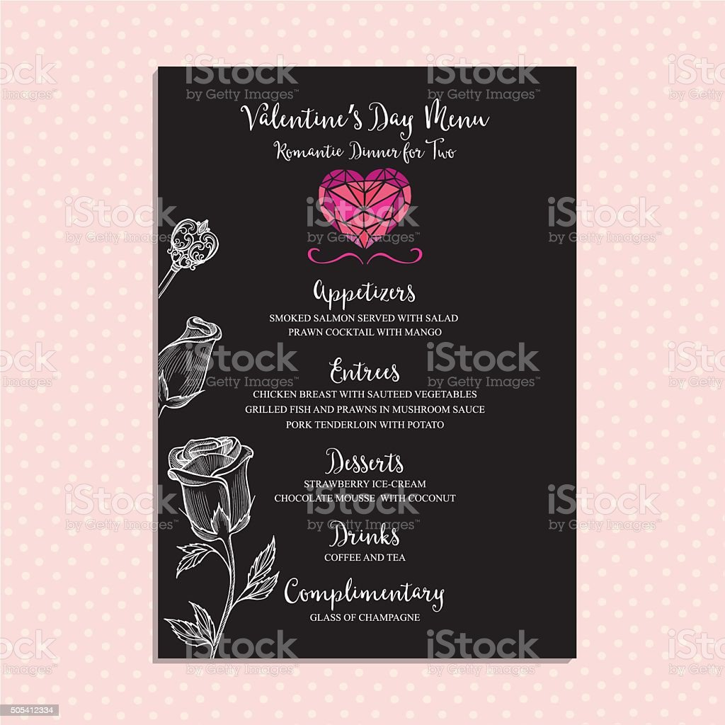Royalty Free Valentines Dinner Clip Art Vector Images