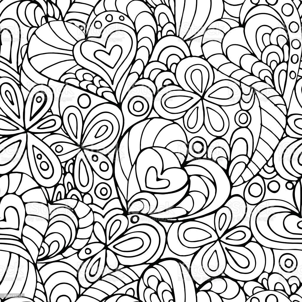 Ilustración de Patrón De San Valentín Libro Para Colorear y más ...
