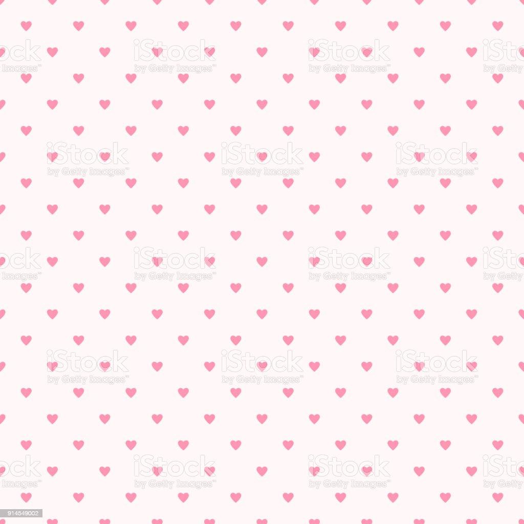 Valentine Muster Nahtlos Herz Form Süßen Rosa Farben Stock Vektor ...