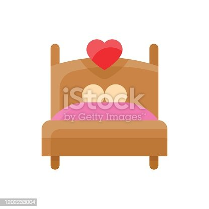 istock valentine related love and romance couple sleeping on bed vector in flat design 1202233004
