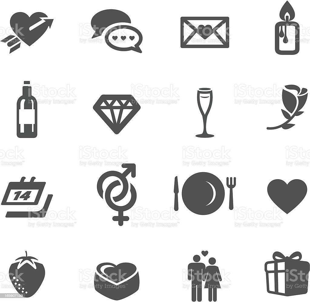 Valentine & Romance Symbols vector art illustration