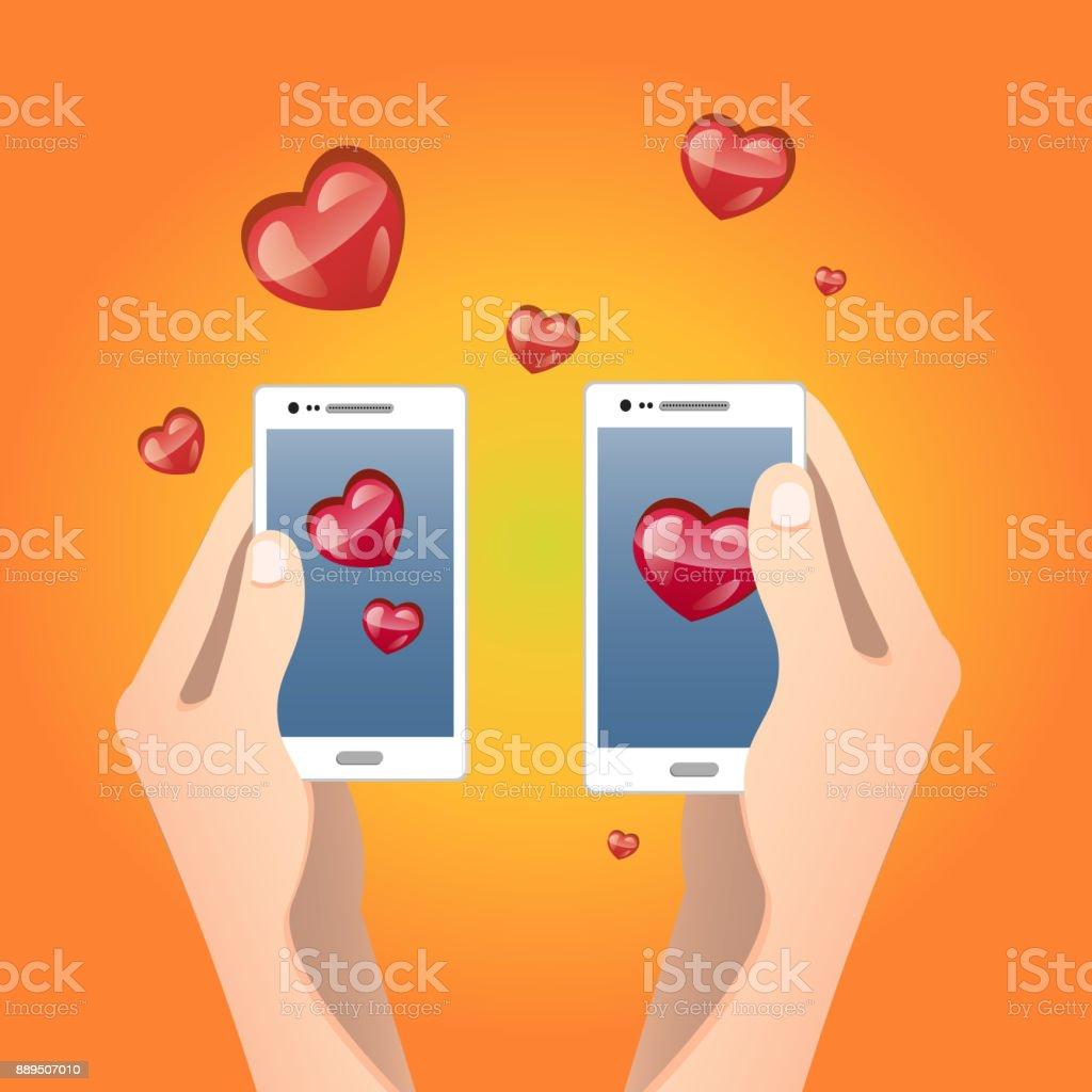Valentine S Dag Illustratie Verzenden Of Ontvangen Van Sms