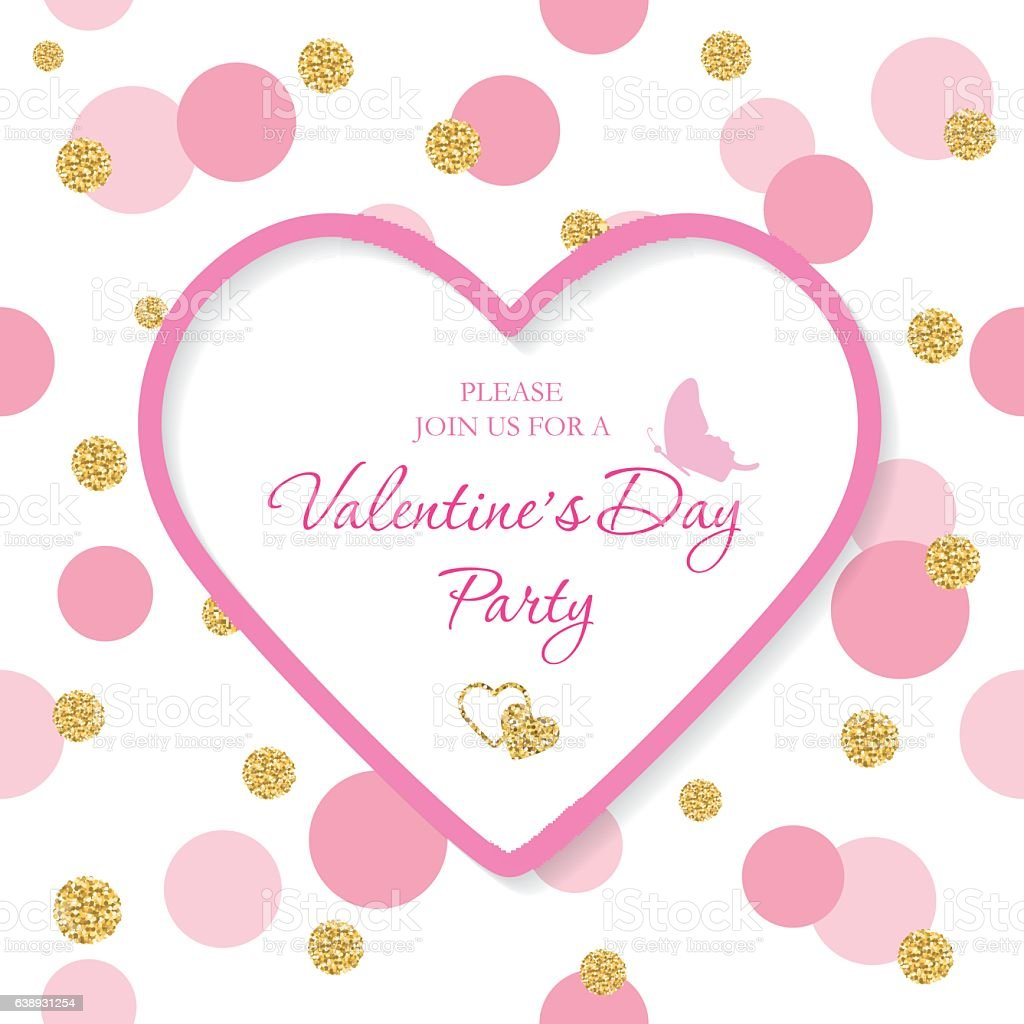 Valentine S Day Invitation Template Included Laser Cutout Heart