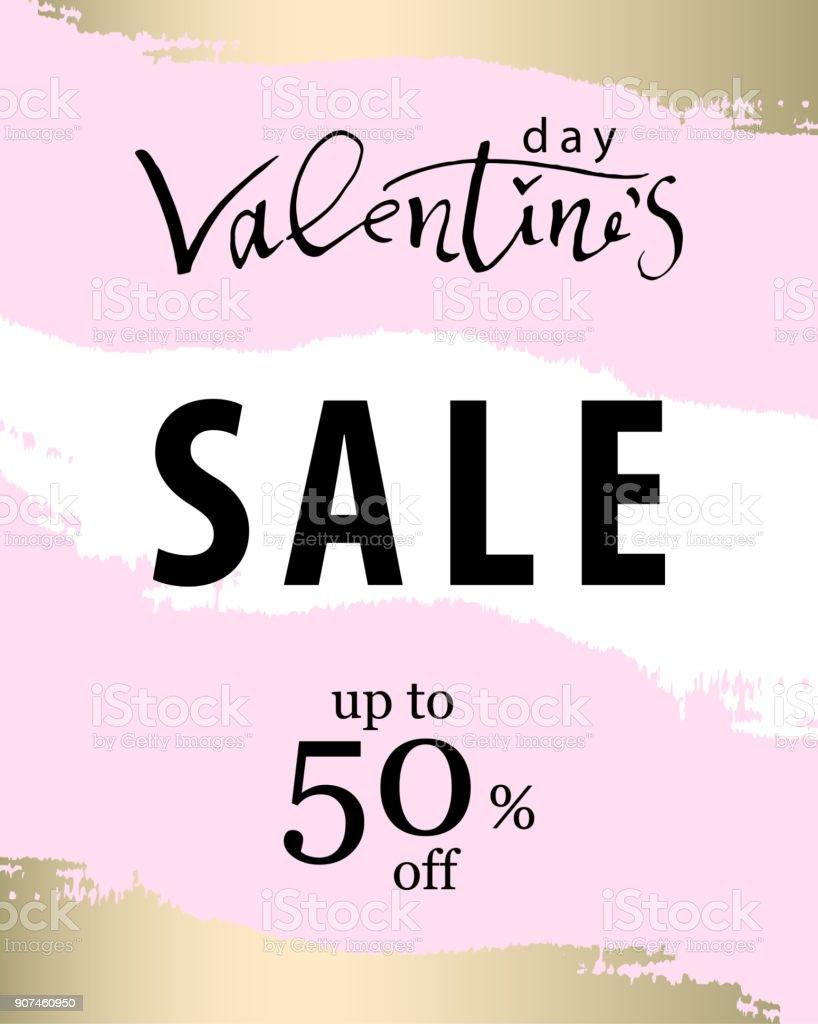 Valentine s Day Sale Banner - illustrazione arte vettoriale