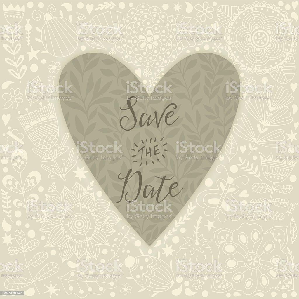 Valentinstaggrußkarte Mit Vorlage Blumen In Herzform Stock Vektor