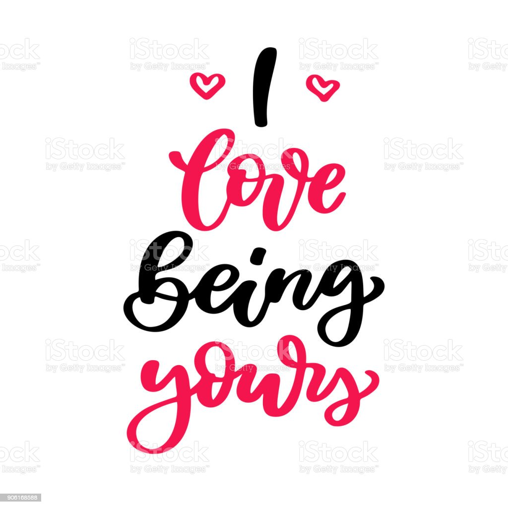 Valentine S Day Vector Lettering Isolated Handwriting Calligraphy