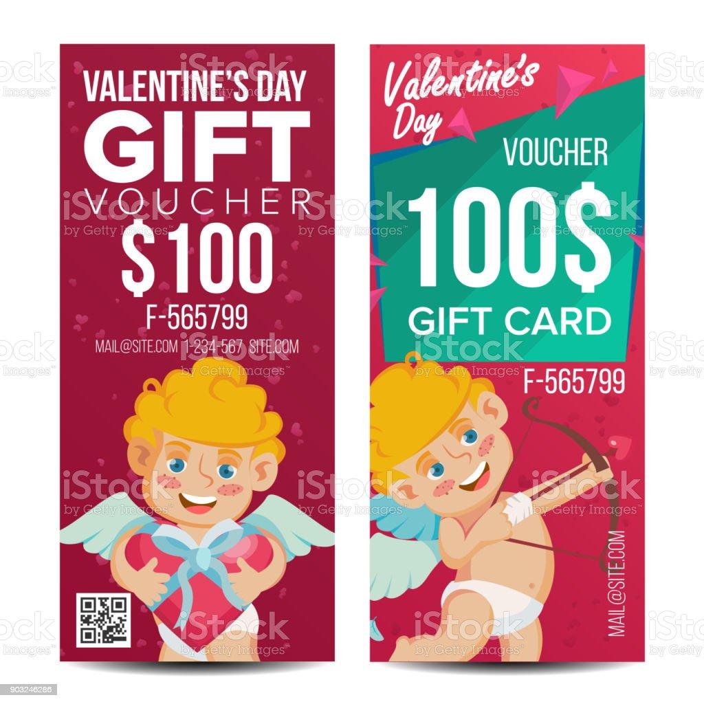 Valentine S Day Gutschein Vorlage Vektor Februar 14 Kostenlose Card ...