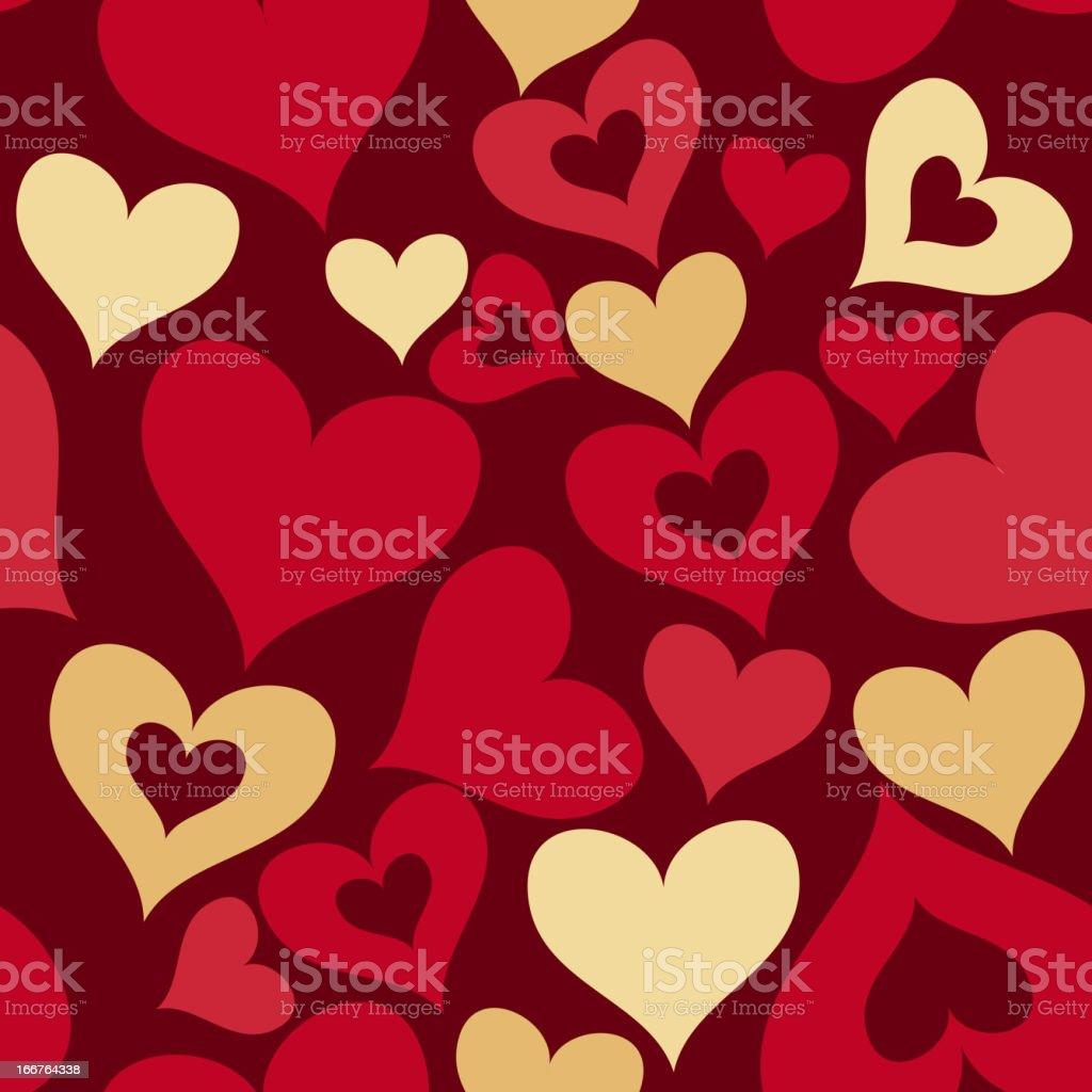 valentine seamless hearts pattern royalty-free stock vector art