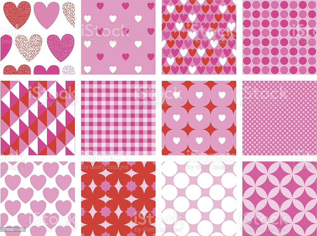 Valentine seamless pattern royalty-free stock vector art