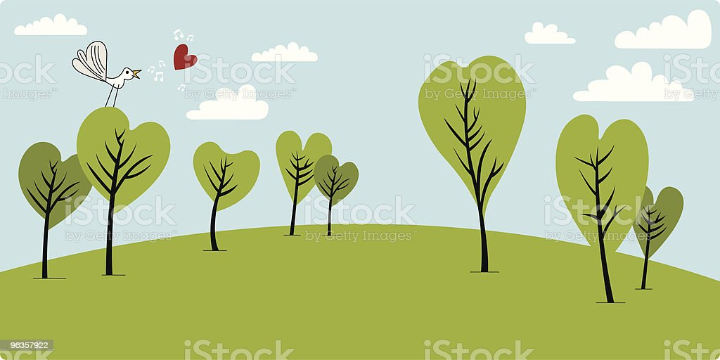 Valentine Trees royalty-free valentine trees stock vector art & more images of bird