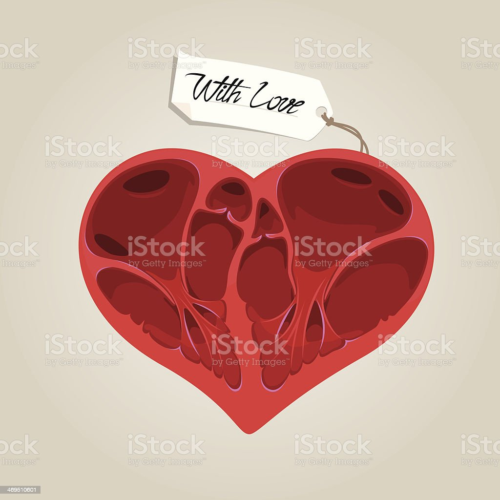 Valentines anatomy heart royalty-free stock vector art