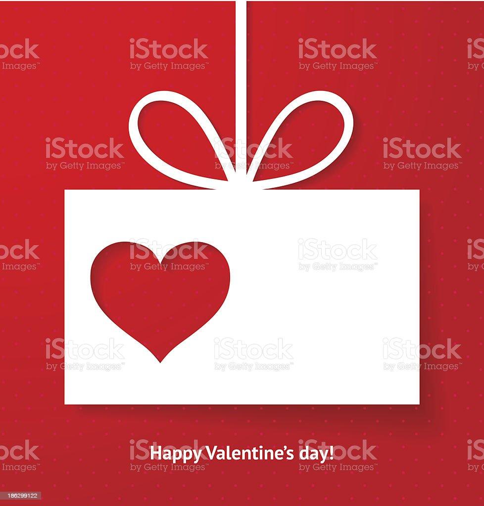 Valentine's applique card or background. vector art illustration
