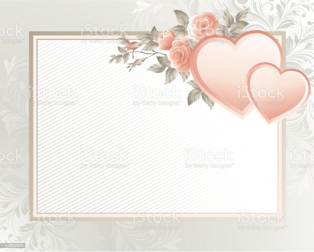 Valentine's background royalty-free stock vector art