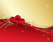 Vector illustration red valentines  background