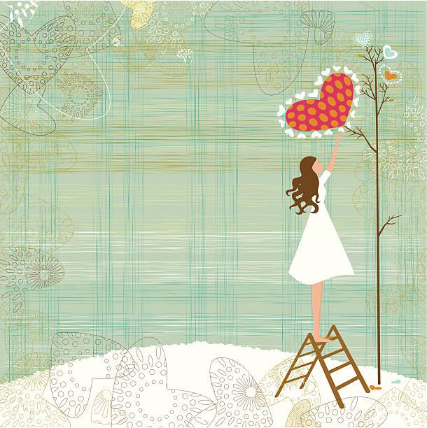 Valentine's background vector art illustration