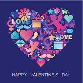 valentines card , EPS 10