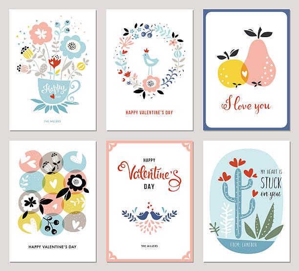 Valentines Cards - ilustración de arte vectorial