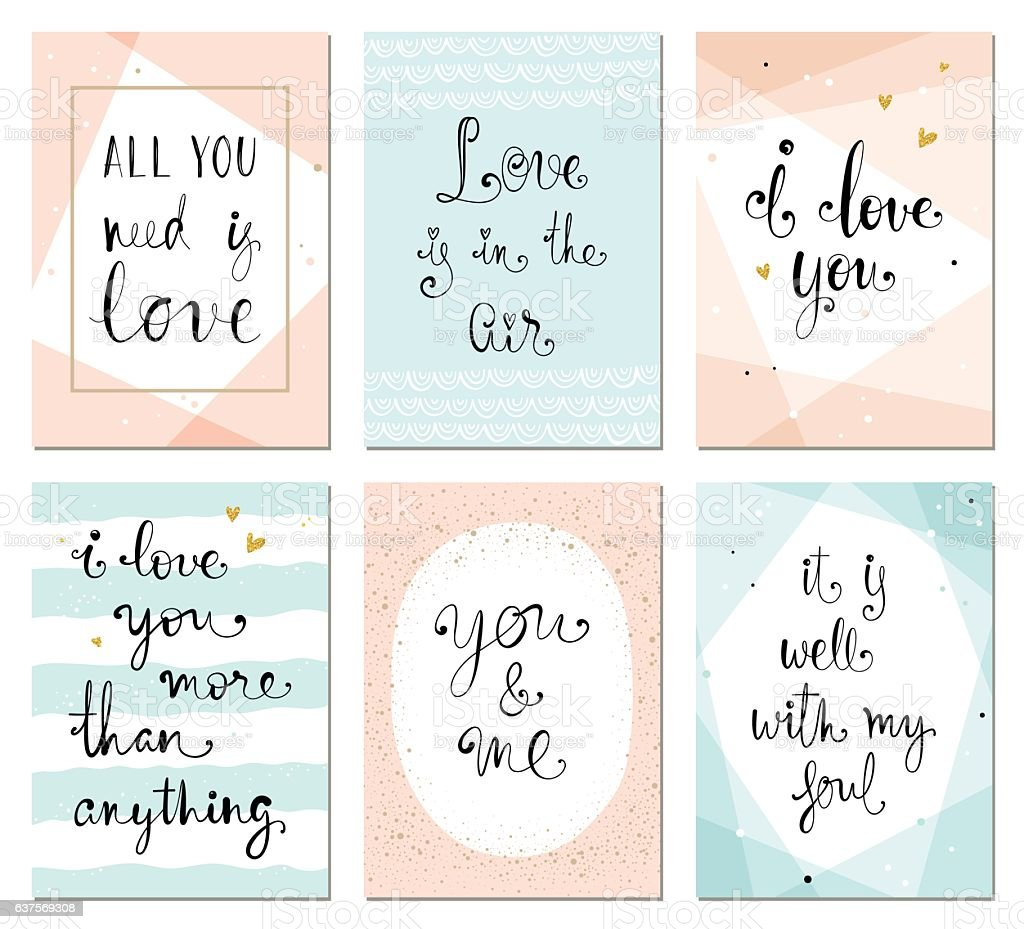 Valentines Cards vector art illustration