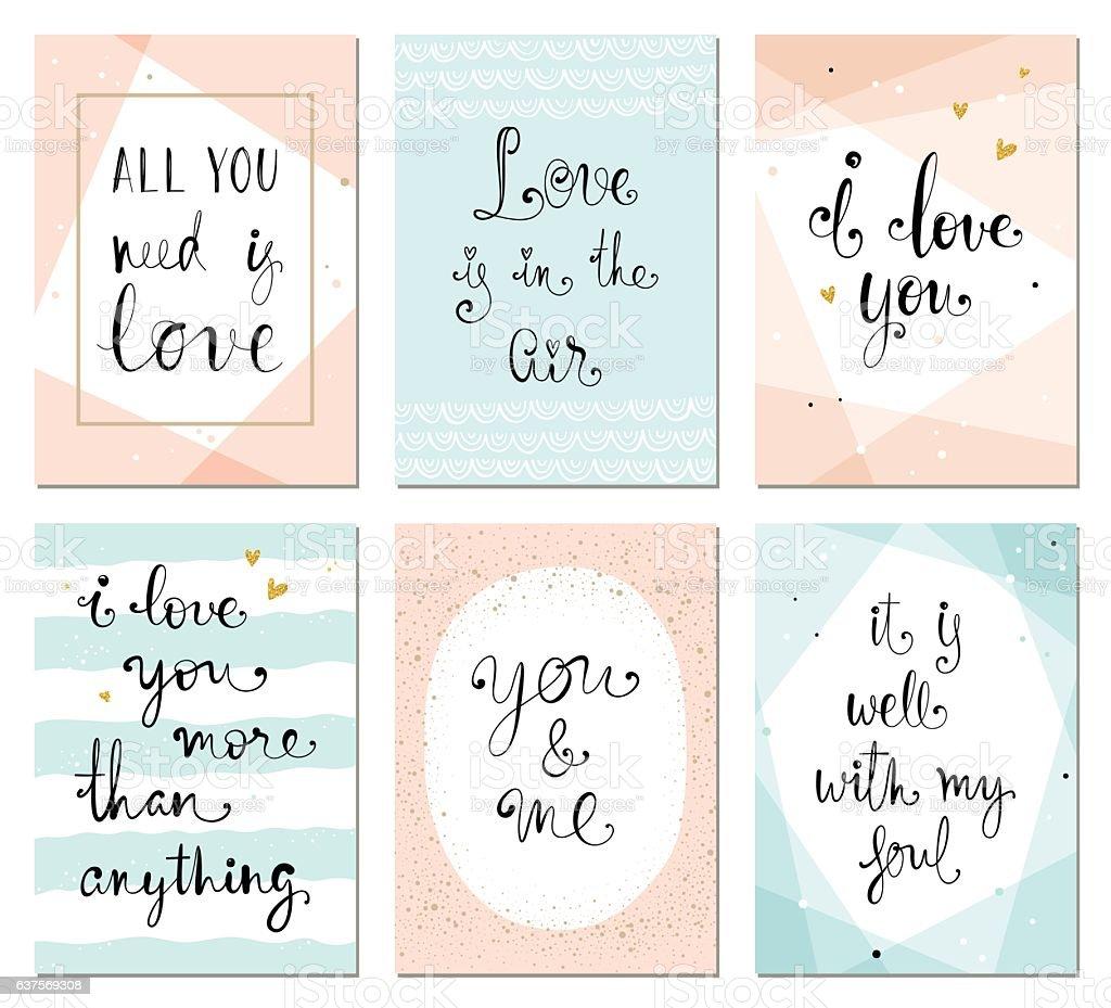 Valentines Cards ベクターアートイラスト