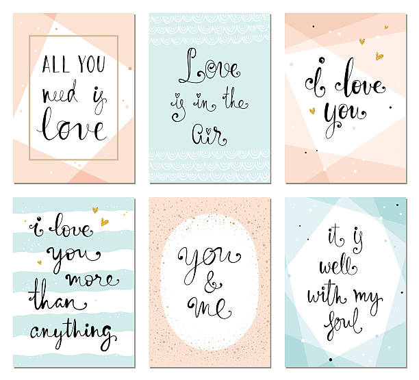 Valentines Cards vector art illustration