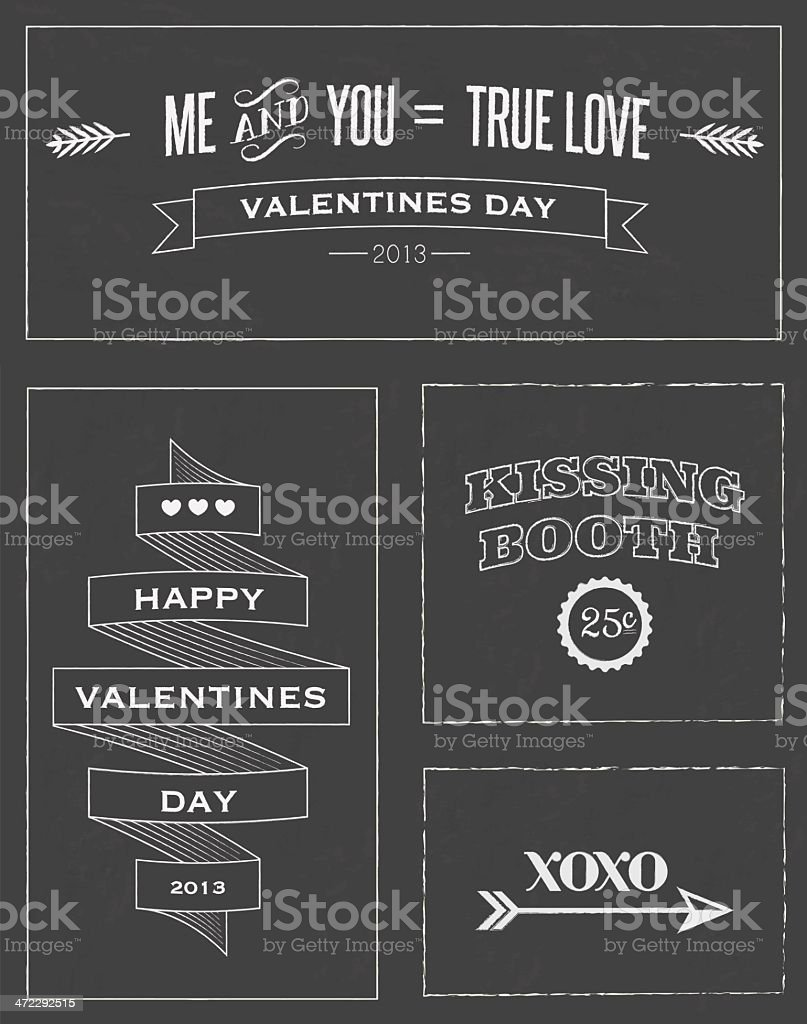 Valentines chalkboard art royalty-free stock vector art