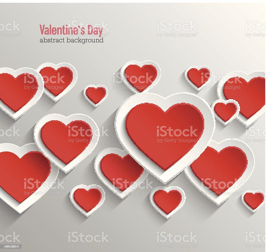 Valentinstag Abstrakt Hintergrund. Lizenzfreies Vektor Illustration