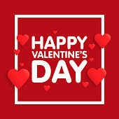 Valentine's day abstract background with cut paper heart. Vector illustration.