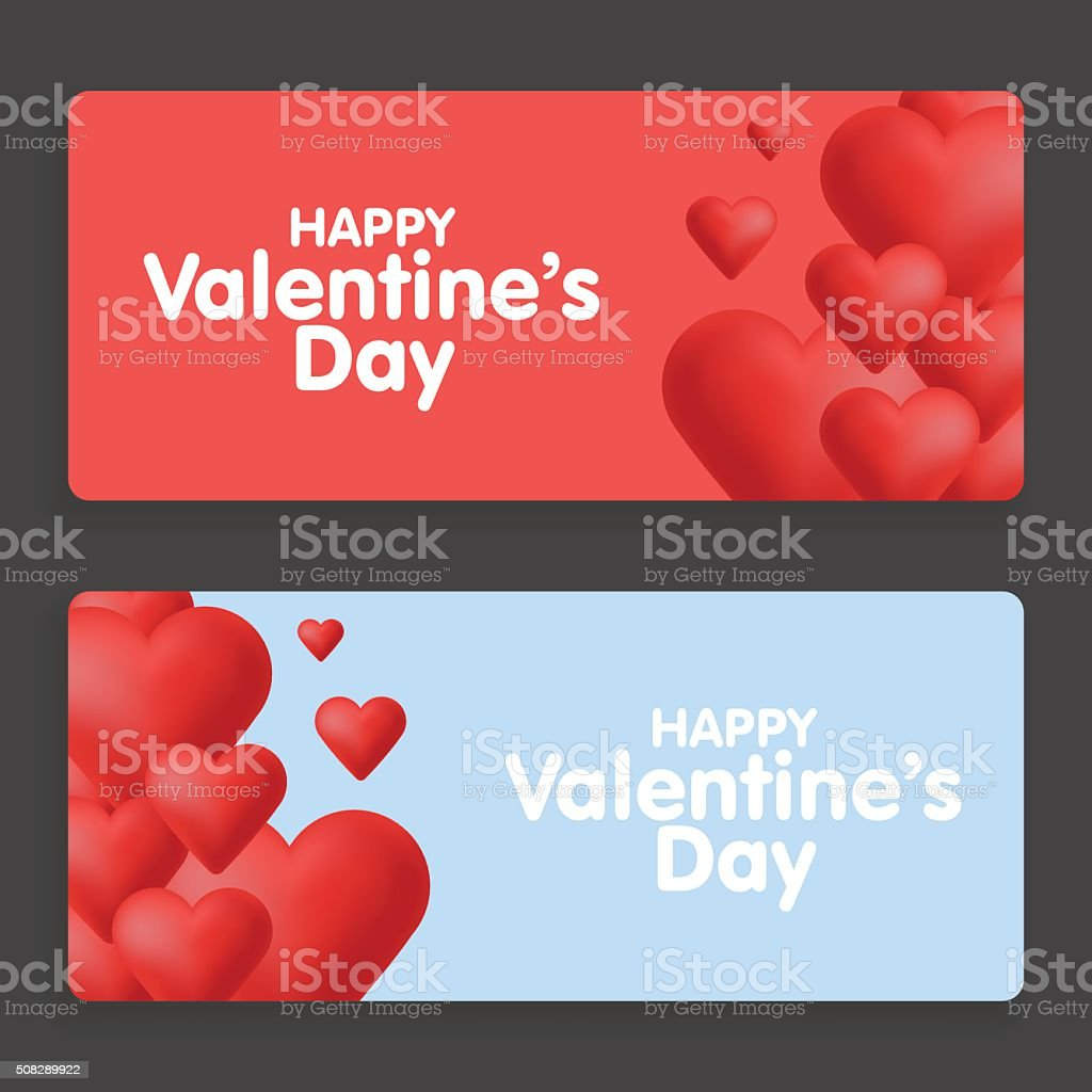 Valentinstag Abstrakten Karten Mit Herz Stock Vektor Art und mehr ...