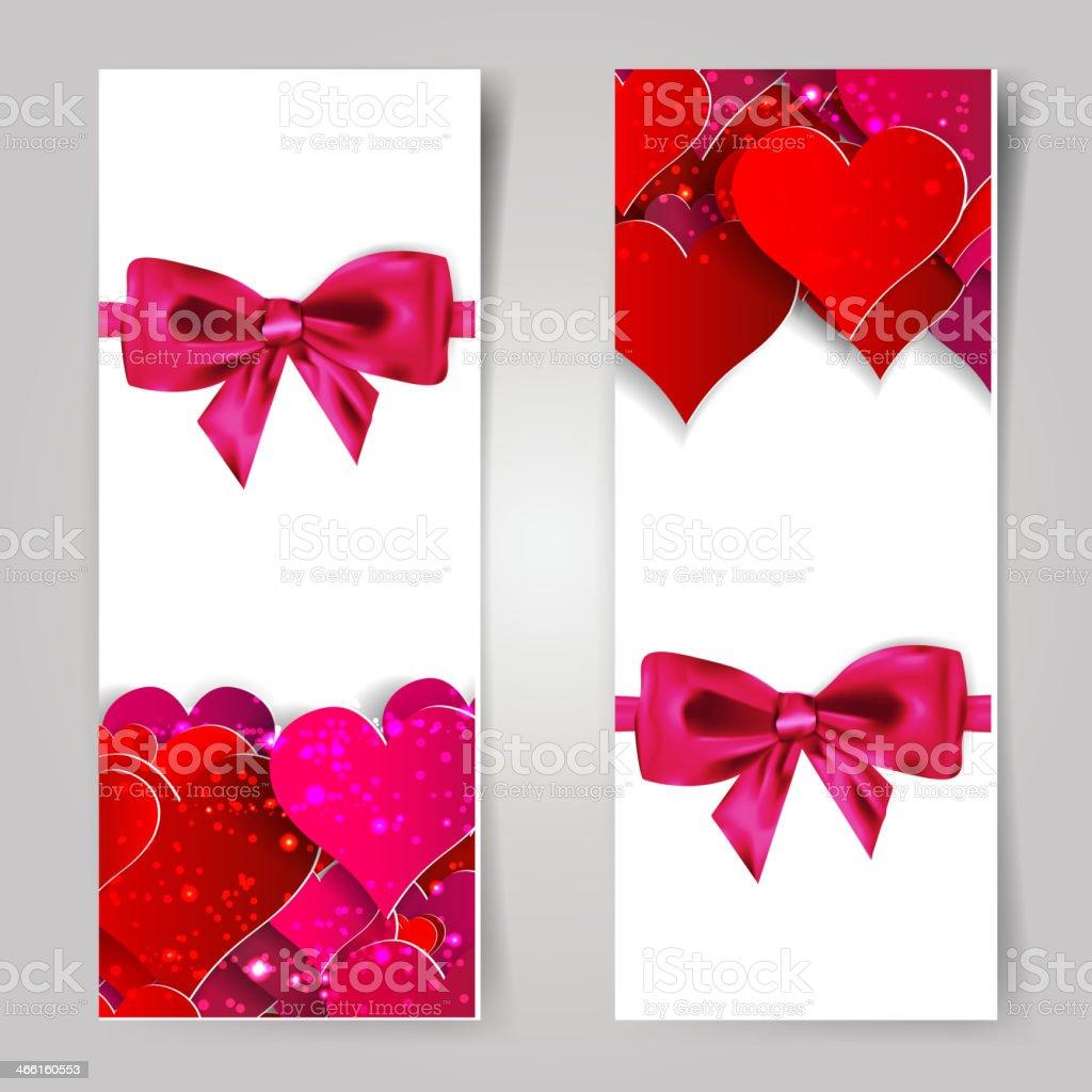 Valentinstag Abstrakte Karte Mit Papier Herzen Vektor Illustration ...
