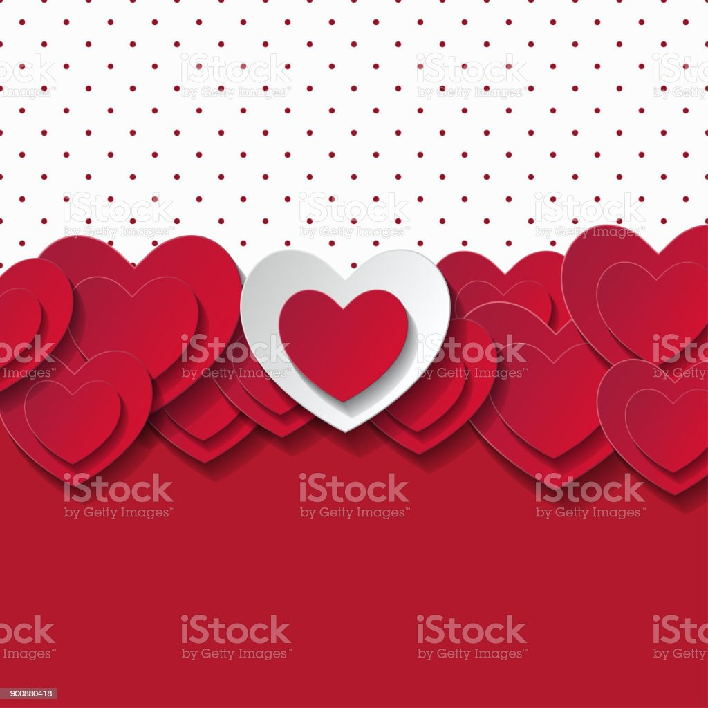 Valentine's day abstract romantic background vector art illustration