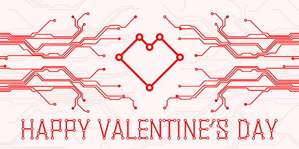 Valentines Day Abstract Technology