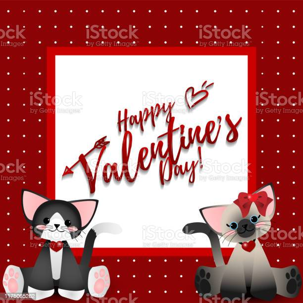 Valentines day background of two cute cats with happy valentines day vector id1175065262?b=1&k=6&m=1175065262&s=612x612&h=msvwphry68phhqwrdgd4f9s2hezfdrnswwrbcd90gua=