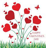 Vector Valentine's day background .