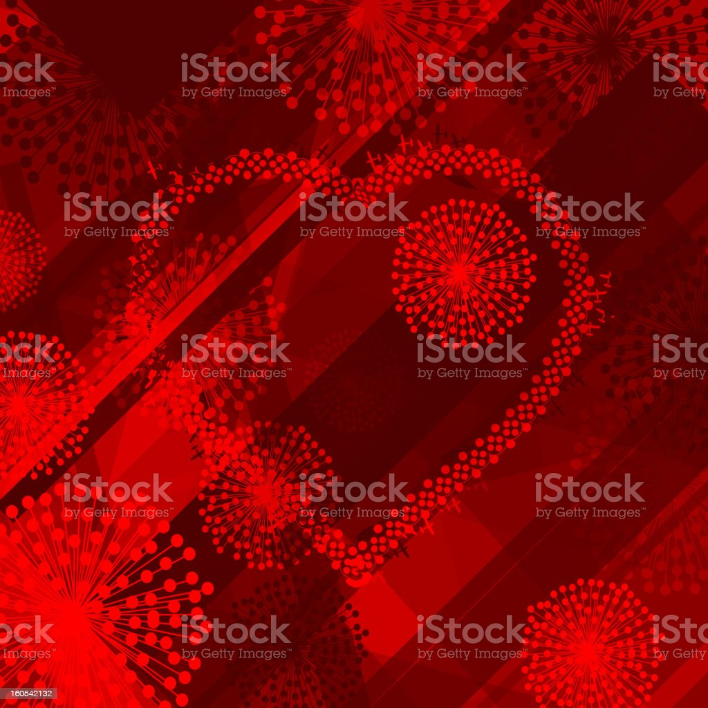 Valentine's Day background royalty-free stock vector art