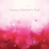 Valentine's Day Background - layered illustration, eps 10 with transparency. AI file is attached. Global colors used.