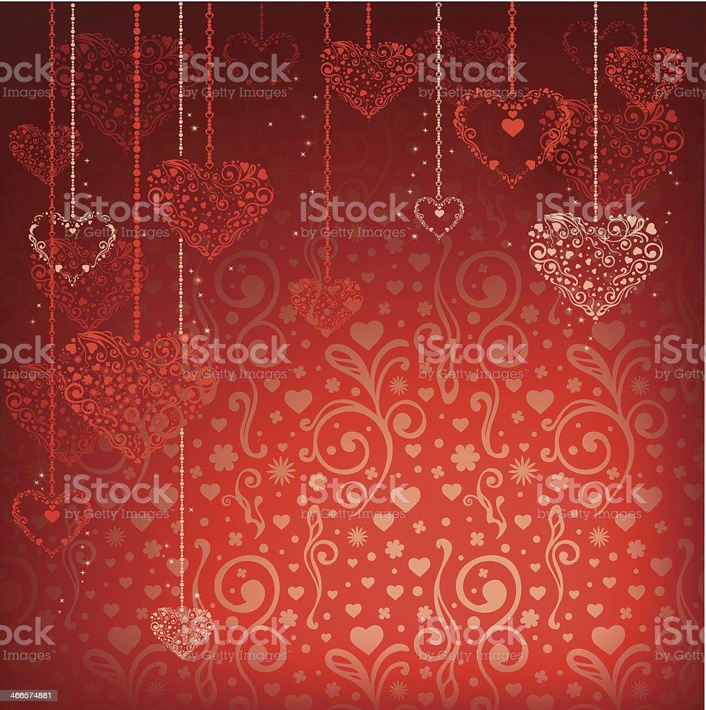 バレンタインの日の背景 つる草のベクターアート素材や画像を多数ご用意 Istock