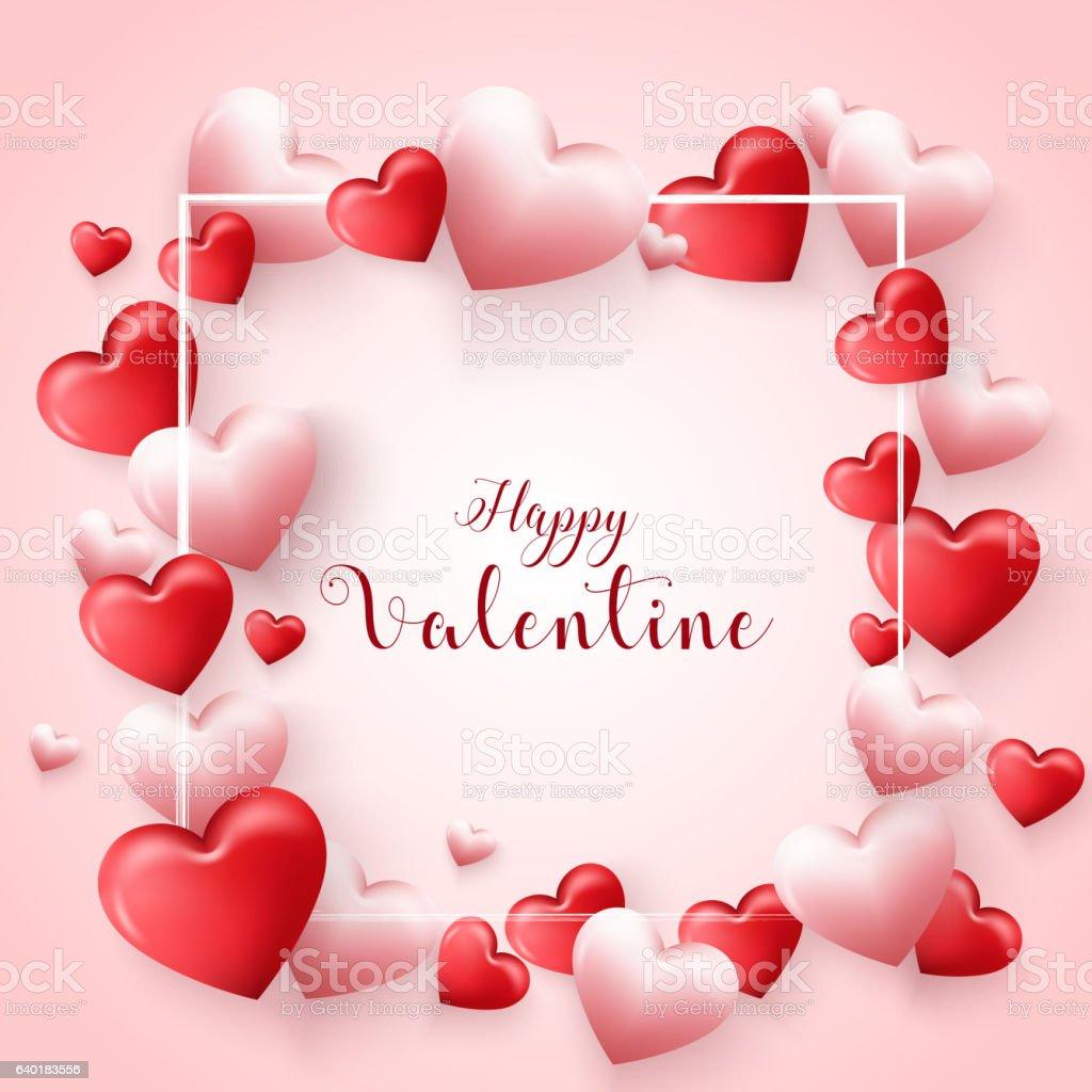 Valentines day background vector art illustration