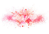A vector illustration of a Valentine's day background in water colors with the words be mine.