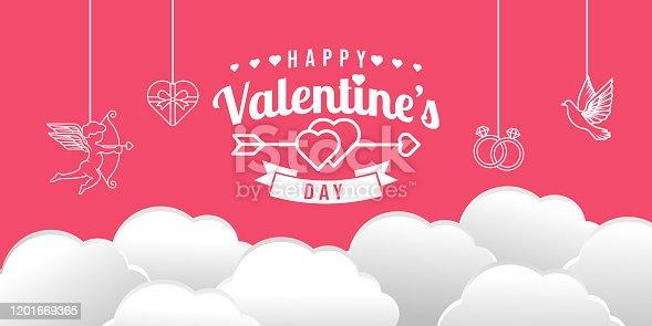 istock Valentine's day background Vector illustration. 1201669365
