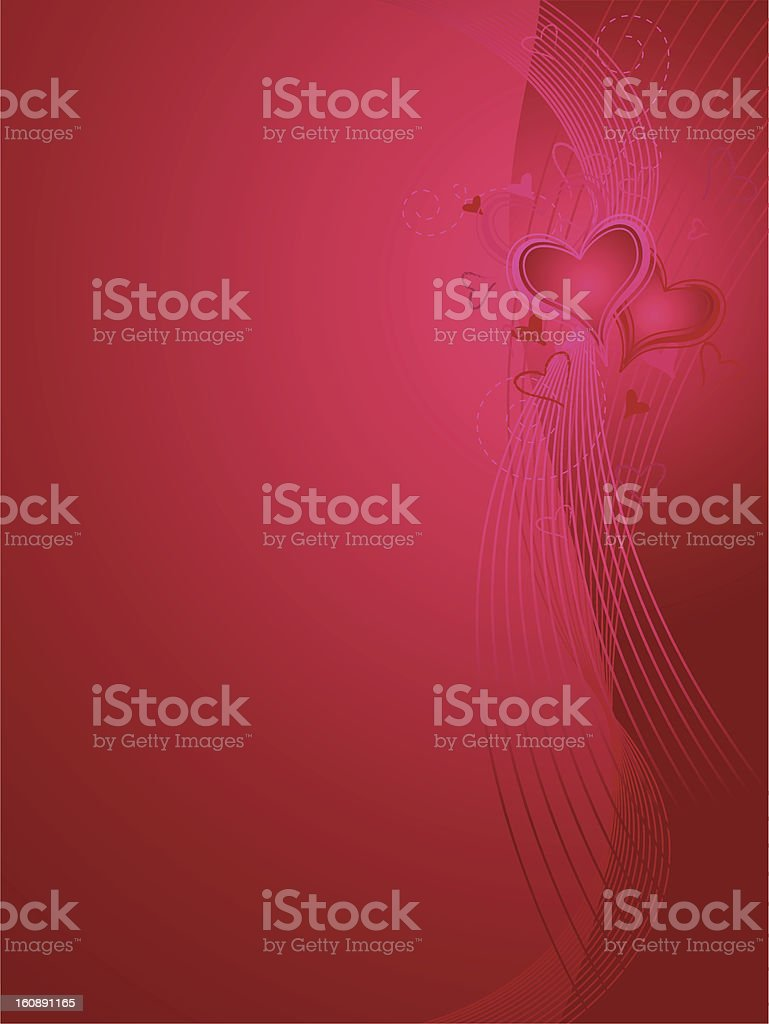 Valentines Day Background Verticle royalty-free stock vector art